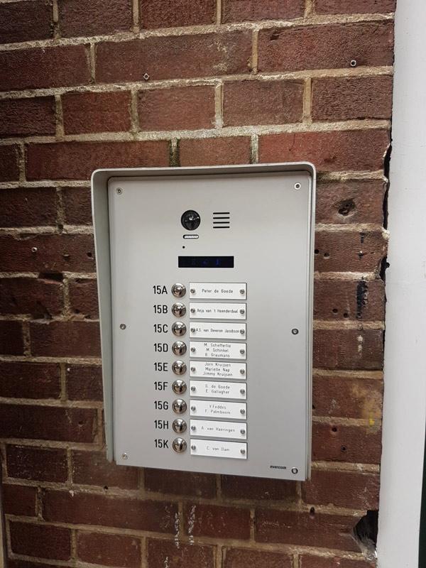 Evercom videofooninstallatie voor 9 appartementen
