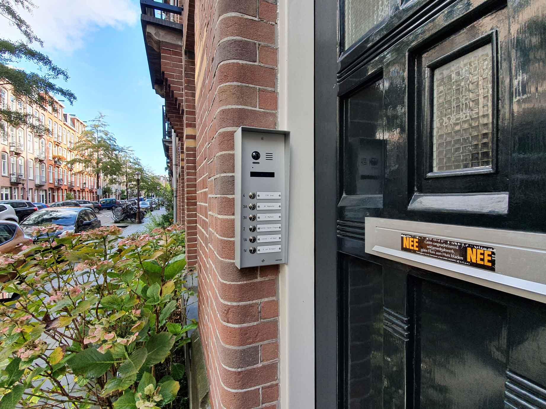 Evercom deurbel intercom opbouw